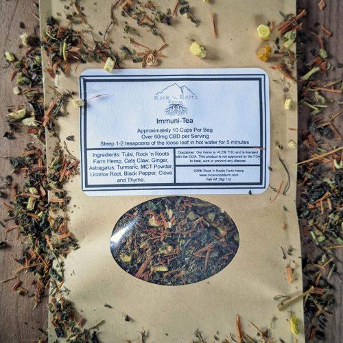 Immuni-Tea. Hemp CBD Immune Support Tea. Loose Leaf.
